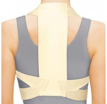 Corretor de postura medicinal, elástica