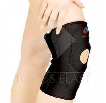 Joelheira. Banda medicinal em neoprene, elástica,  de joelho, com abertura para rótula