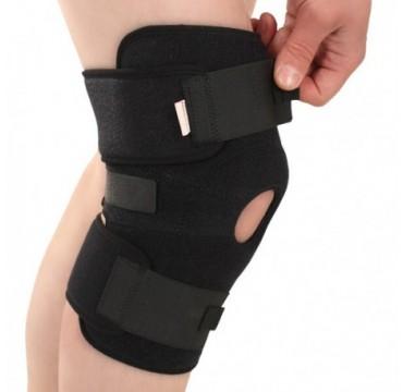 Joelheira. Banda medicinal em neoprene, elástica,  de joelho, com inserções de mola, universal